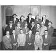 Executive of Congregation Agudath Israel Anshei Sfard, Toronto, July 1963. Ontario Jewish Archives, Blankenstein Family Heritage Centre, item 1558.|Identified in the photo: Back row, left to right: Goodman, Salita, Lipofsky, M. Goldenberg, Brown. Middle row, right to left: I. Schwartz, J. Brown, Noodelman, Zagalsksy, S. Fain, Wiskin, Ginsberg. Front row, left to right: S. Korberg, M. Gelman, B. Copelovic (Secretary), O. Cohen (President), B Yakubowitz (Treasurer), Shatz Charly