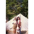 Camp Solelim campers in costume standing in front of a tent, ca. 1990. Ontario Jewish Archives, Blankenstein Family Heritage Centre, accession 2014-10-3.|
