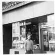 Henry Weingluck in front of his gallery and gift shop, Toronto, [ca. 1960]. Ontario Jewish Archives, item 4460.|