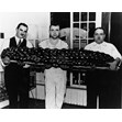 Bakers at Perlmutar's Bakery hold a 99lb challah prepared for the Hadassah Bazaar, Toronto, 1938. Ontario Jewish Archives, Blankenstein Family Heritage Centre, item 4495.|