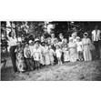 Children in costume, Mothers' and Babes' Summer Rest Home in Tollandale, Ontario, ca. 1945. Ontario Jewish Archives, Blankenstein Family Heritage Centre, fonds 52, series 1-7, file 5, item 1.|